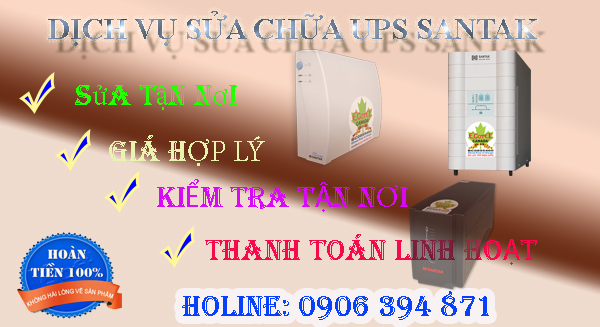 Dịch vụ sửa chữa UPS Santak chất lượng